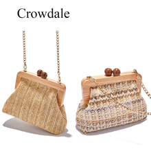 CROWDALE Log fashion handbag Braided new summer shoulder bag luxury handbags women bags designer