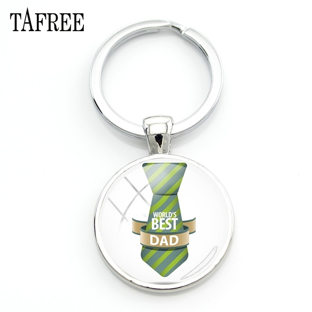 TAFREE WORLD S BEST DAD Keychain Creatived Keyring Trendy Pendants Keychains  Papa Dad Car Fathers Day Gift 74d78f39dc5f