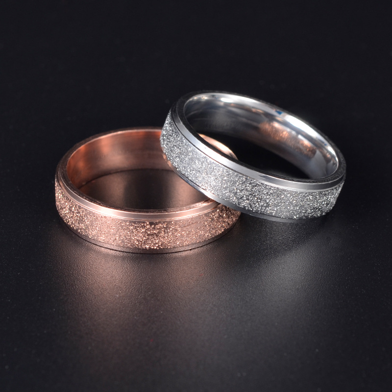 aiboduo Classic Wedding Rings Fashion Simple Stainless Steel Women Men 2019 Jewelry Wholesale Lovers Party Gift R00007