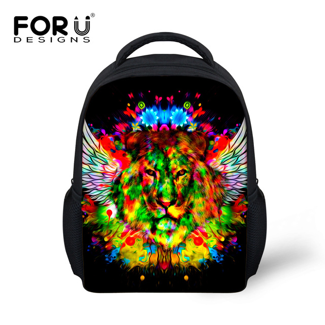 a69def26119f Animal Cool 3D Tiger Lion Head Printing Children Backpacks for School Baby  Kids Bagpack Kindergarten Rucksack Casual Mochila