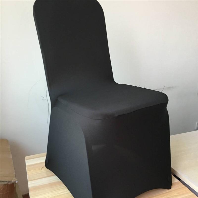 Marious 100бр универсален черен спандекс банкетен стол покривало / стол покрива ликра за сватбено събитие фабрична цена безплатна доставка