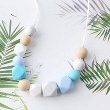 1pc artesanal dentição colar silicone bebê mordedor diy colar para o bebê infantil/amamentação mastigar brinquedos de enfermagem jóias