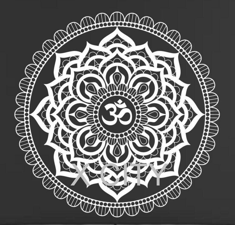 Aliexpress.com : Buy Mandala Pattern Yoga Wall Decal ...