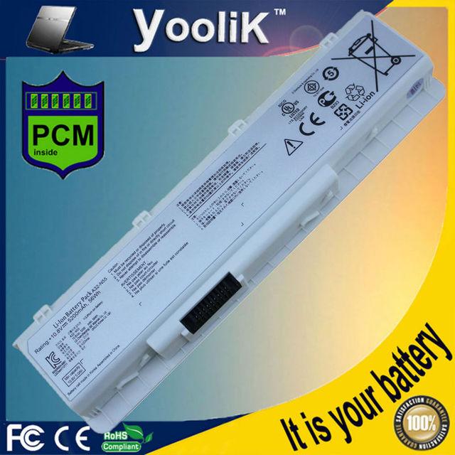 Batería del ordenador portátil para asus 07G016HY1875 N55SL N55E N55S N55F N75 N75S N75SL blanco A31-N45 A31-N55 A32-N55 A32-N45