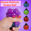 5CM Anti Stress Face Reliever Grape Ball Autism Mood Squeeze Relief Healthy Funny Tricky Toy Funny Geek Gadget Funny Vent Toy