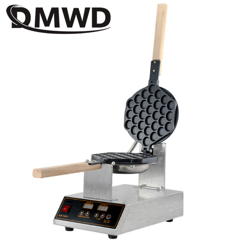 DMWD Commercial Digital Electric Chinese Eggettes Waffle Maker Puff Iron Hong Kong Egg Bubble Baking Machine Cake Oven 110V 220V цена и фото