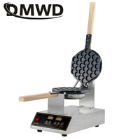 DMWD Commercial Digital Electric Chinese Eggettes Waffle Maker Puff Iron Hong Kong Egg Bubble Baking Machine Cake Oven 110V 220V
