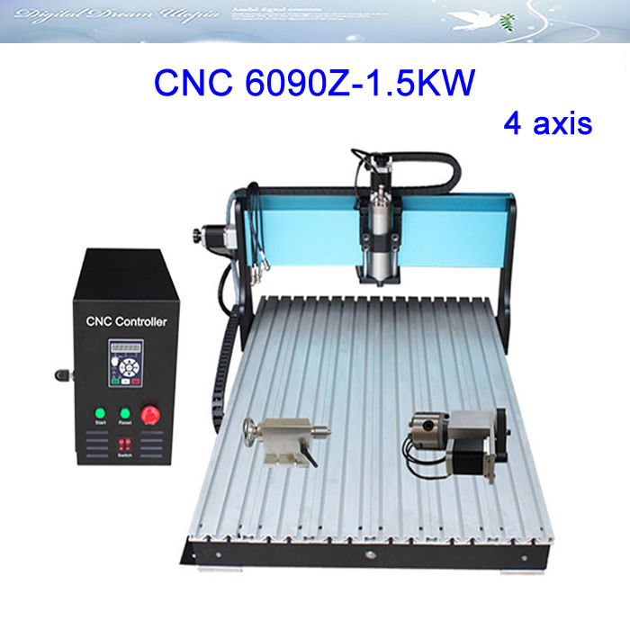 New arrival! 4 axis CNC LY 6090Z-1.5KW Engraving Machine,cnc router, Russia special line,free tax!! mini cnc router diy 6090 frame for 6090 engraving machine cnc frame to russia free tax