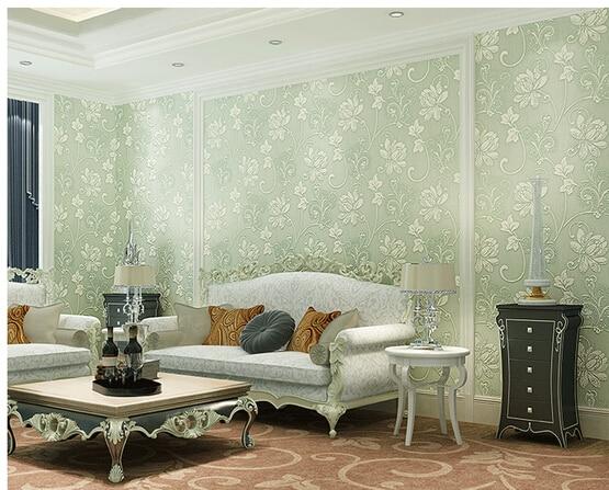 Light Green Living Room Wallpaper - Living Room 2017