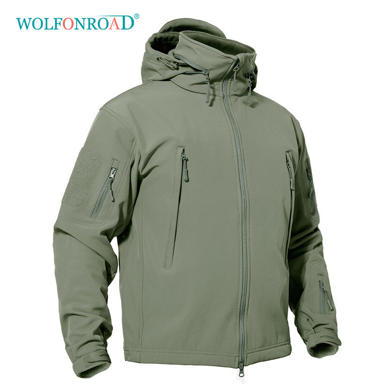 WOLFONROAD Winter Men s Softshell Fleece Jacket Outdoor Waterproof Thermal Hiking Jackets Military Tactical Sport Jacket