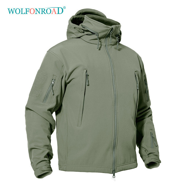 4d8b4c51c49d WOLFONROAD Winter Men s Softshell Fleece Jacket Outdoor Waterproof Thermal  Hiking Jackets Military Tactical Sport Jacket Coats