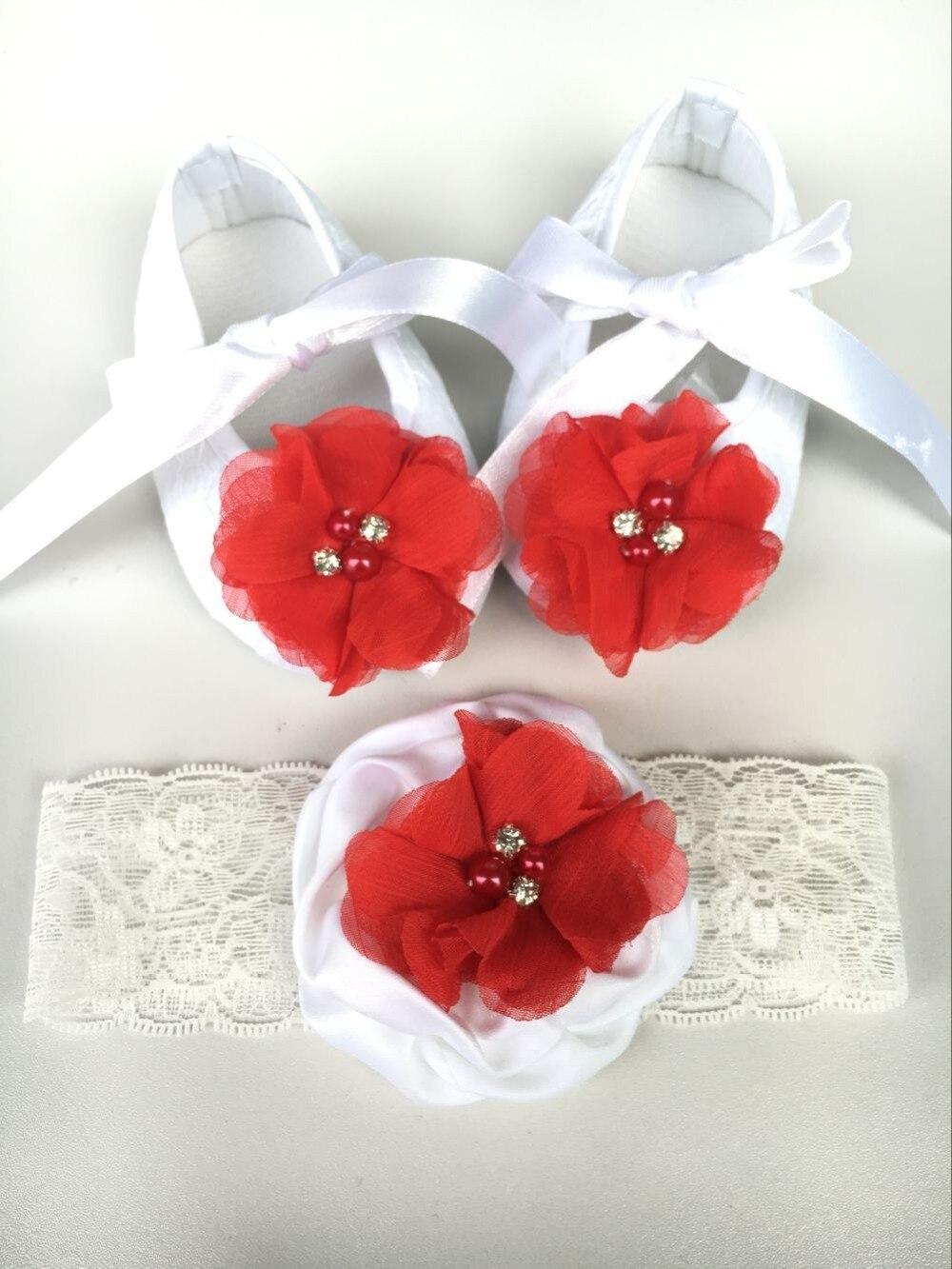 Кружево детские пинетки императорская корона новорожденных Обувь для младенцев оголовье, набор, белый smkids Rhinestone короны для маленьких Тапоч...