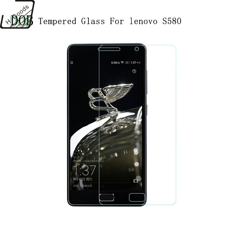 H-Goods For lenovo S580 Tempered Glass 0.26mm 2.5D Rounded Edges 9H Premium Anti-shatter Tempered Glass For lenovo S 580 LCD