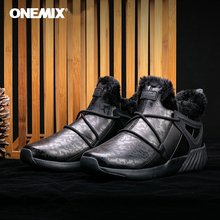 Onemix men hiking shoes Winter Snow Boots Keep Warm anti slip Waterpro