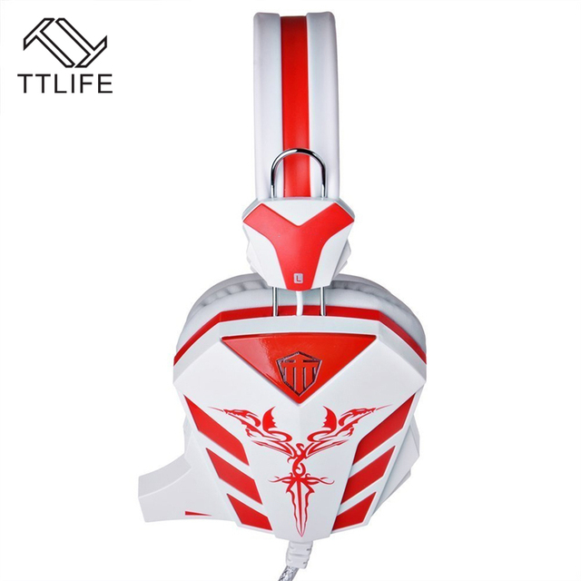 TTLIFE Gaming Headphones Wired 3.5mm Gaming Headset with LED Light Gamer Earphone With Mic For PC Laptop Computer Mobile Phones