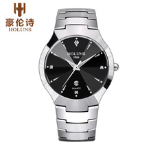 HOLUNS DM101 Watch Geneva Brand Authentic watches Thin fashion business men's diamond calendar tungsten quartz relogio feminino