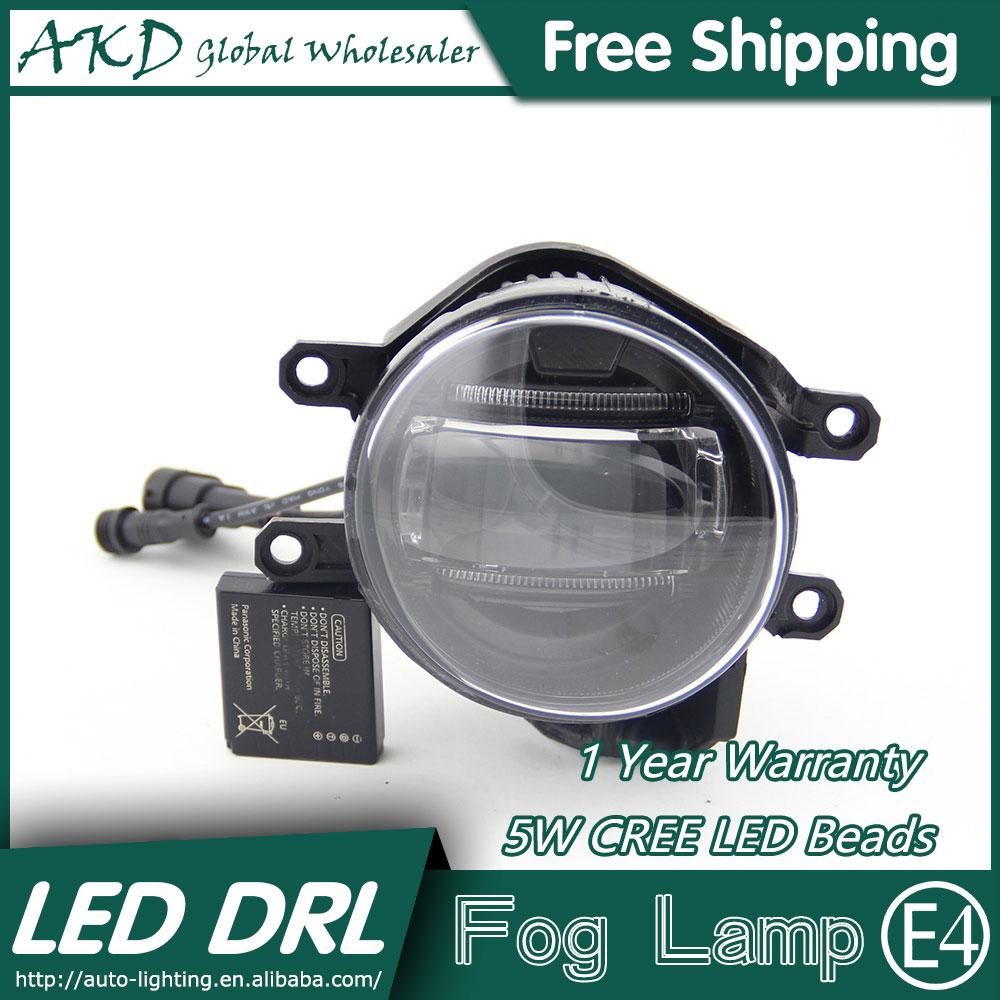 Akd car styling led fog lamp for toyota reiz drl 2010 2015 mark x led
