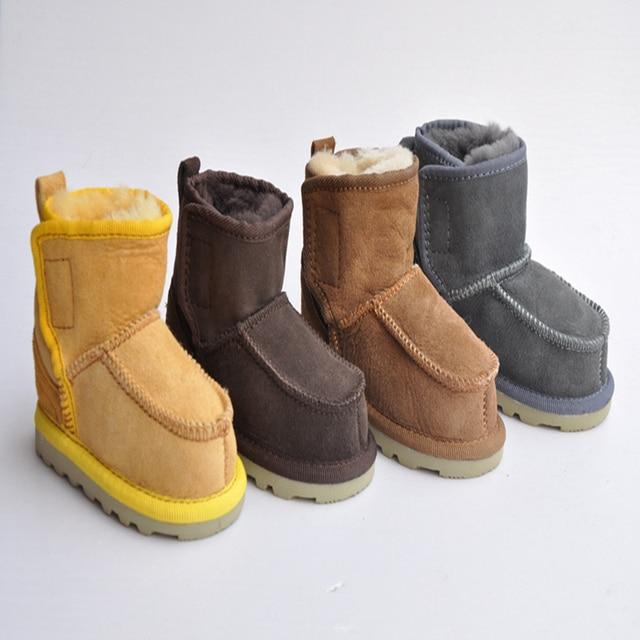 2016 Al Por Mayor Mantener Caliente Zapatos de Niño de Cuero de Piel de Una  Moda 573f3900a5c82