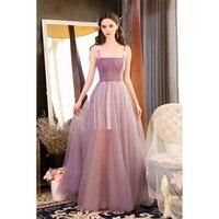 2018 Высокое качество Спагетти ремень бисером шелк сетки женщина длинное платье De Festa вечернее платье Пром платье формальное платье