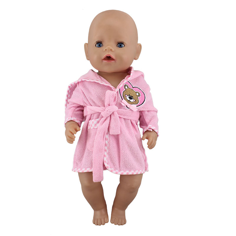 Bathrobe Fit For 43cm  Baby Doll  17Inch Reborn Baby Clothes