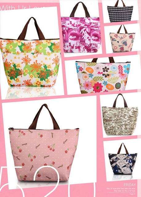 Fashion Cooler Bag Keep Food Fresh Thermal Bags Lunch Box Large Insulation Hot And Cold Pack