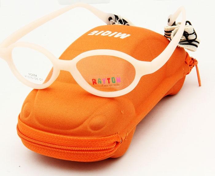 Free Shipping Brand Design Kids Fashion Eyeglasses Frames wtih Cute Case Carbon Fiber oculos Children
