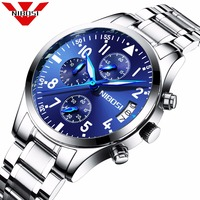 Horloges Mannen KASHIDUN Mens Watches Top Brand Luxury Business Quartz Watch Men Sport Stainless Steel Clock
