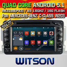 WITSON Android 5.1 CAR DVD GPS CAR AUDIO NAVIGATION for MERCEDES-BENZ C CLASS W203 Capacitive touch screen Qual-core16GB Rom