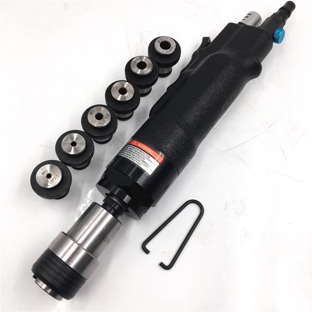 Pneumatic Tapping Machine 200rpm 400rpm Air Drill Tapper Tool 6pc Chucks M3 M4 M5 M6 8