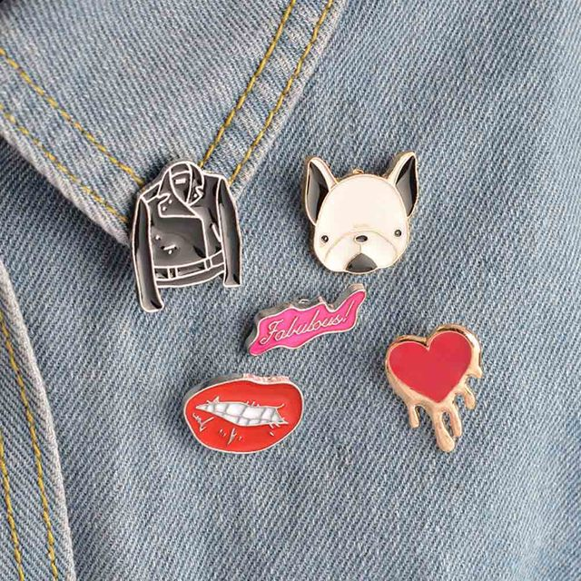 New Fashion Cartoon Brooch Pin Badge Clothes Badges Backpack Icons Package Icon Clothing Decorative Brooches by Zhe Fanku