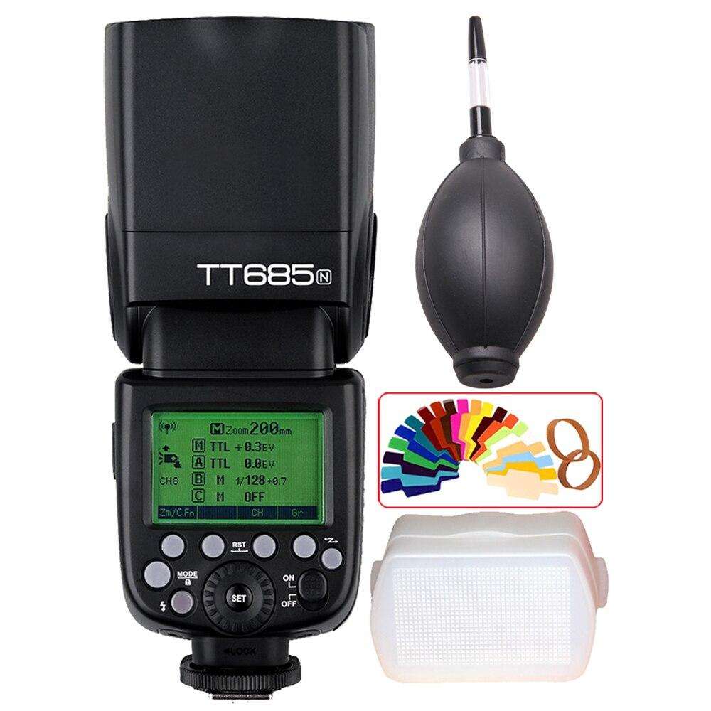 Godox TT685 TT685N 2 4G Wireless HSS 1 8000s i TTL Camera Flash Speedlite for Nikon