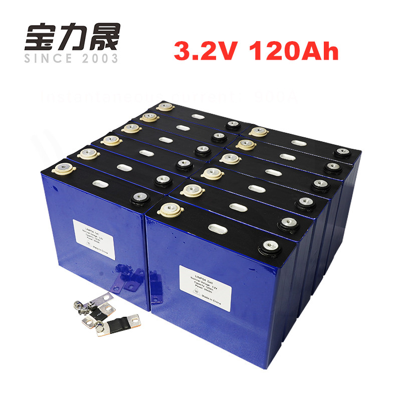 24pcs/lot 3.2V 120Ah LiFePO4 cell not <font><b>100AH</b></font> Long Life Cycles 3C For <font><b>12V</b></font> 130Ah real <font><b>battery</b></font> pack li-ion lifepo4 <font><b>lithium</b></font> ion image