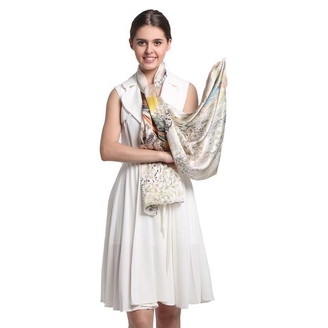 [Long Scarf]100% Silk Satin Scarf 52cmX175cm Pure Silk Scarf Women Shawls Classic Desigual Bestseller