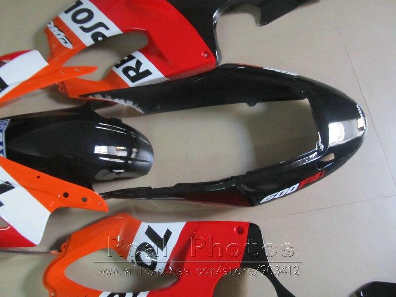 Литьевая форма ABS пластик обтекатель комплект для Honda CBR600 F4I 04 05 06 07 оранжевые черные Обтекатели набор 2004 2007 CBR600 F4I BN21 - 6