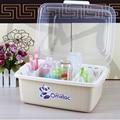 Sin olor Cubierta Transparente Bebé tienda de botellas de pie bin clamshell biberón tendedero tendedero cubiertos cajas