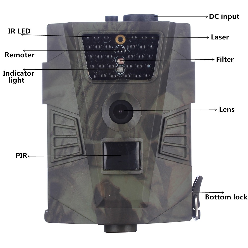 HT001 hunting trap camera for hunting 3MP scouting wild hunter camera with motion sensor photo-trap for hunting without MMS HT00 suntek ht002a wild animal scouting hunting cameras for hunter camerasfree shippping