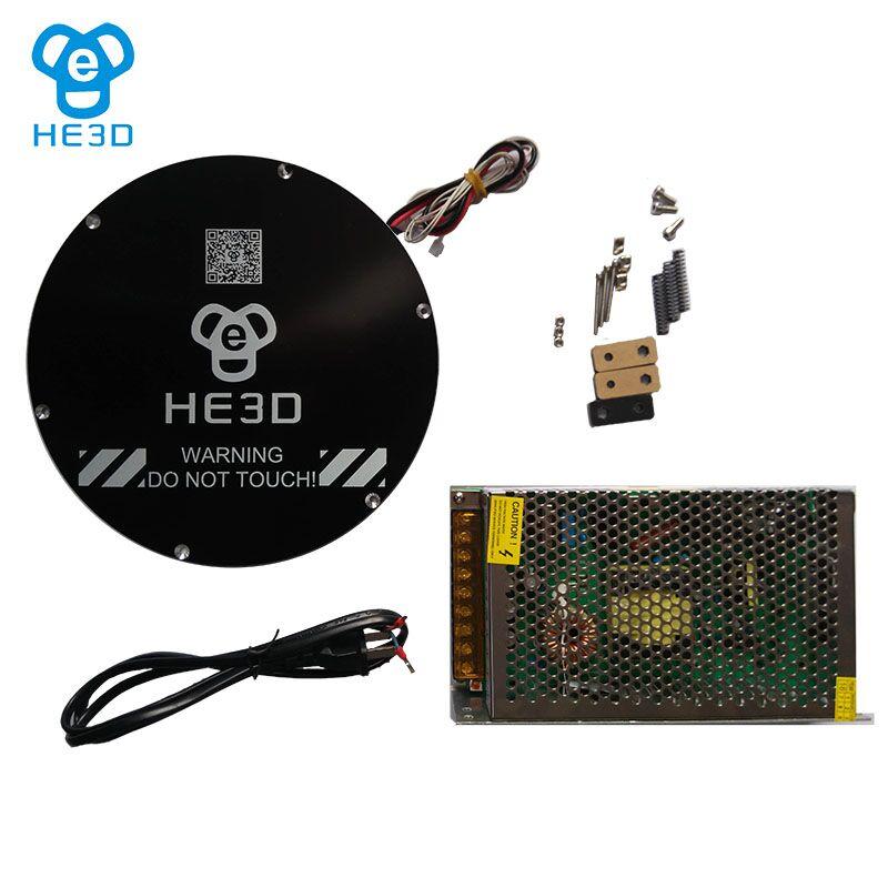 HE3D 3D printer part K200 upgraded to heat bed set kit he3d heat bed upgrade kit for k200 3d delta printer