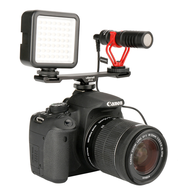 US $99 91 |BOYA BY MM1 Video Microphone w LED Video Light on Camera  Facebook Live Streaming Vlogging for Nikon Canon Sony DSLR Camera-in  Microphones