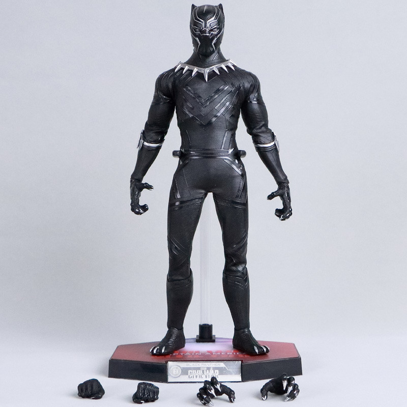 Marvel Captain America 2 Civil War Black Panther The Avengers 3 Toys King Superhero Doll 1/6