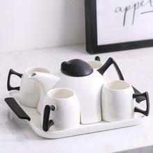 Top-grade cup coffee set home ceramic teapot bone china tea Water flower teacup Mug party Teatime Afternoon