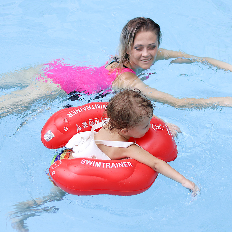 Free Swimming Baby Ring Inflatable Infant Armpit Floating Kids Swim Pool Accessories Circle Bathing Inflatable Double Raft Rings