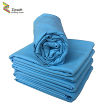 Zipsoft Hot Yoga Mat Large Beach towel Microfiber Blue Quick-drying Towels lightweight for bath Camping Travel toalha de banho