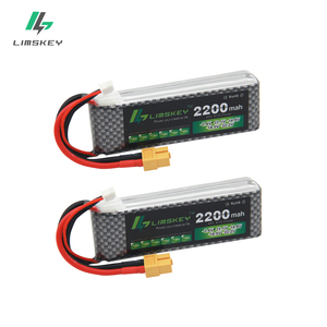 Limskey Power Brand New Lipo Battery 11.1V 2200 mAh 30C MAX 60C 3S T Plug for RC Car Airplane T-REX 450 Helicopter Part 2PCS/LOT
