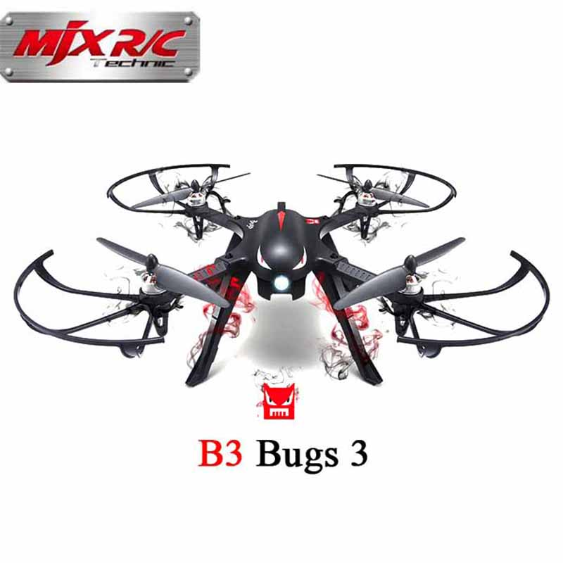 MJX Bugs 3 B3 2.4G RC Helicopter High Speed Brushless Motor RC Drone With H9R 4K Camera FPV Real-Time Image RC Quadcopter VS X5C mjx bugs 3 b3 rc quadcopter brushless motor 2 4g 6 axis gyro drone with h9r 4k camera professional drone helicopter black