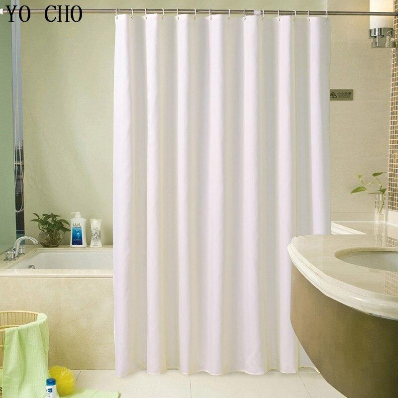 White Mold In Bathroom: YO CHO Simple Fabric Farmhouse Modern Bath Curtain Set