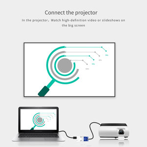 Image 3 - 1080 P HDMI VGA Converter met Audio Adapter Vrouw naar Man Signaal HDMI VGA Audio Transmissie Adapter voor HDTV Projector