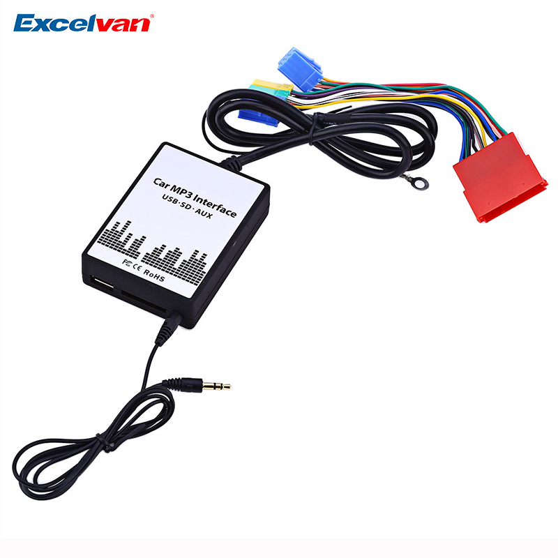 цена на Car MP3 Interface DC 12V USB SD Data Cable AUX Adapter 8 PIN Audio Digital CD Changer for Audi A2 A3 A4 S4 A6 S6 A8 S8