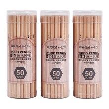 50 pcs Simples 2B 2 H HB Lápis De Madeira Lápis de Desenho Mangá para o Office & School Papelaria Material Escolar atacado