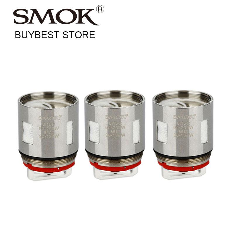 Original 3pcs/pack SMOK TFV12 V12-X4 Coil Atomizer Head 0.15ohm Quadruple Coils for TF-V12 Tank 60W-220W Evaporizer Vapor Vaping