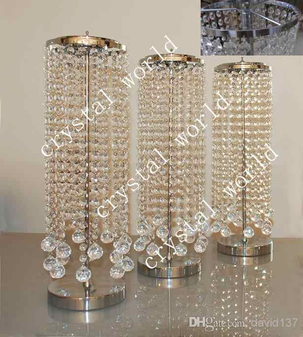 Sale By Bulk Elegant Crystal Table Top Chandelier Centerpieces For